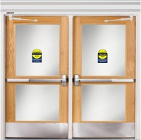 Dual Door with Operator and Arms